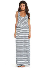 NWT Michael Stars Racerback Maxi in Ship Abbot Kinney Stripe Mesh Back Dress S