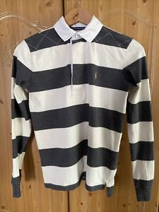 Womens Ralph Lauren Rugby Polo Shirt Size Small 8-10 VGC