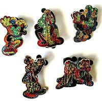 Disney WDW Mystery Mosaic Stain Glass LE 500 (5)Pins, Mickey,Minnie,Pluto,G