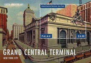 Palau - 2013 - Grand Central Terminal 100th Anniversary - Souvenir Sheet - MNH