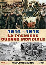 DVD 1914 - 1918 : La Première Guerre Mondiale - 5 Documentaires - Vol 2 / 4 DVD