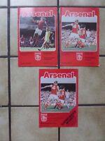 3 x Arsenal Home Football Programmes - Div 1 - 1978/1979 - Lot 2
