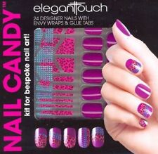 Elegant TOUCH kit uñas Caramelo Púrpura Paquete De 24 uñas