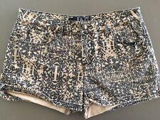 Ladies Denim JAG Shorts Size 12 Brown & Black Animal Print