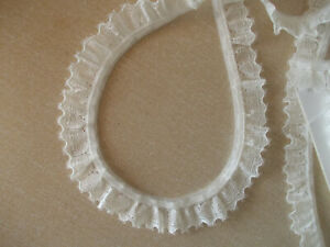 Gathered Frilled Ivory Lace non-stretch 1m 3m 5m lengths