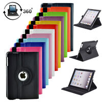360 Rotating PU Leather Folio Smart Cover Case Stand For Apple iPad Air / Air 2
