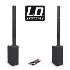 2 x LD Systems MAUI 11 G2 Portable Compact Column Active Bluetooth PA System