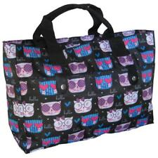 Knitting Bag/ Beach Bag/Handbag,wool cats crochet hand holdall sport blue purple
