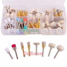80PC Dental Polishing Brush Prophy Rubber Cup Alumina Cotton Wool Felt Wheel Kit