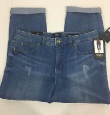 Jones New York Lexington Distressed Capri Jeans Stretch Women's Size 12