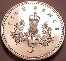 Cameo Proof Great Britain 1990 5 Pence~We Have UK Coins~Excellent~Free Shipping