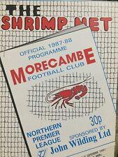 13.10.87 Morecambe v Hyde Utd. Northern Premier League. Programme FP 3