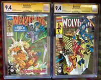 WOLVERINE 41 & 42**CGC LOT BOTH 9.4**Signature Series SS**Sabertooth&Cable**