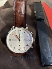 IWC IW371445 Portuguese Chronograph Wrist Watch - Gold With Two IWC Straps