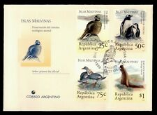 DR WHO 1994 ARGENTINA FDC MALDIVES ANTARCTIC ANIMAL COMBO PENGUIN f95349
