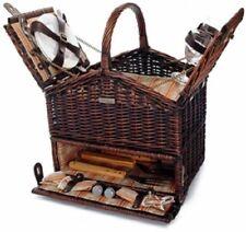 Picnic & Beyond Wicker Bbq Picnic Basket for 2 Pb1-3545 20pcs