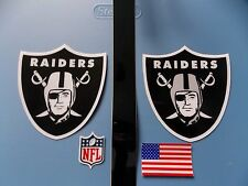 Oakland Raiders football helmet decals set