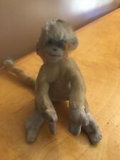 """VINTAGE STEIFF MOHAIR MUNGO MONKEY with LONG TAIL & BLUE EYES 12"""" DC1"""