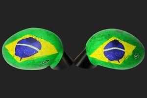 Spiegel Cover  Brasil Flag Spiegelhülle Abdeckung Kappe Außenspiegel Überzug