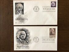 Both Albert Einstein First Day of Issue Stamps and Cache 1966 and 1979