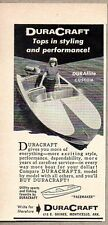 1956 Print Ad DuraCraft DURAflite Custom Boats Monticello,Arkansas
