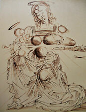 DALI - MADONA AND CHILD -  LITHOGRAPH SIGNED 1978  -  FREE SHIP IN US  !!!
