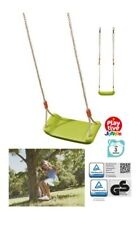 Kids Childrens Garden Swing Seat Outdoor Plastic Moulded Tree Rope Toy