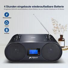 Tragbarer CD-Player CD-Radio Boombox Bluetooth Lautsprecher Stereoanlage FM AKKU