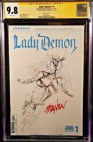 LADY DEMON #1 CGC SS 9.8 SIGNED MIKE MAYHEW ARTBOARD VARIANT DYNAMITE COMICS