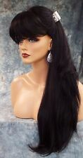 PREMIUM HUMAN HAIR WIG SKIN TOP WIG BEWITCHING FOXY SEXY STYLE COLOR 1B ❀ 354
