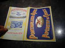 Ancien Feuillet Publicitaire Distillerie Armand Guy ABSINTHE Pontarlier - Anis
