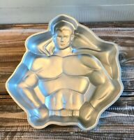 Vintage 1977 Wilton Superman Birthday Cake Pan Mold DC Comics Super Hero Baking