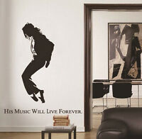 Michael Jackson DIY Art Wall Decal Decor Stickers Vinyl Removable Paper Mural
