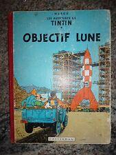 Objectif Lune edition B11 1954 Hergé Tintin état correct