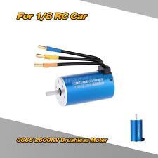 3665 2600Kv 4 Poles Brushless Motor for 1/8 1/10 Off-road Rc Car Eu4N