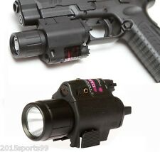 Tactical Combo Cree Flashlight/Lights Torch Red Laser Sight For Glock Pistol #1
