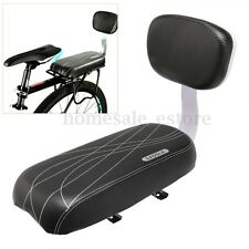 Black Bicycle Comfort Gel Rear Bike Seat Pad Cushion Cover Back Rest  Saddle