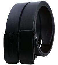 Luxury Genuine Leather Mens Belt Automatic Ratchet Buckle Dress Belt 35mm Width
