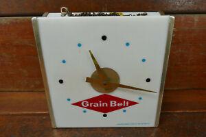 Vintage 1960s Grain Belt Beer Minneapolis Brewing Co Lighted Clock Sign Works