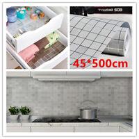 5M Silver Mosaic Wall Stickers Vinyl Self Adhesive Furniture Kitchen DIY Decor