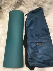 "Lululemon Yoga Mat Green Black 71"" x 24"" 5mm with cover bag navy blue B45"