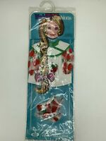 Ideal Fashions Velvet Dina Mia Strawberry Smock 2 pc Doll Outfit Sealed 1972