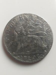 ETHIOPIA, 1 BIRR  1892 - 1895, circulated silver coin