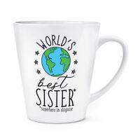 World's Best Sister 12oz Latte Mug Cup - Funny Gift Present