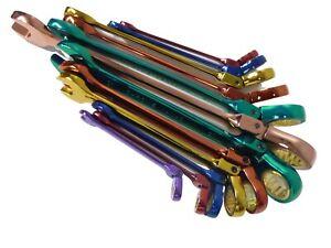 Coloured Ratchet Spanner Set 7pc Combination Flexible 8mm - 24mm…