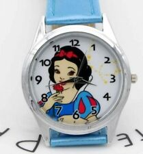 Disney's Snow White Genuine Blue Leather Band Wrist Watch
