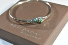 Silpada Patina Brass Turquoise Look Encore Bangle Bracelet B3012 Sterling Silver
