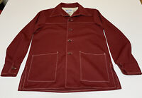 Time Out by Farah Leisure Suit Shirt Disco Mens M/S Vintage 70s Maroon