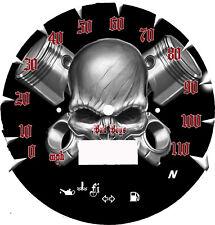 Suzuki Boulevard C50 Face plate Skull N Piston 2005-2009 (MPH or KM/H)