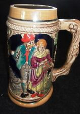Mug Beer Stein Ceramic German Style Made in Japan 6 1/2 inches